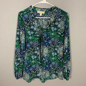 Michael Kors Paisley Floral Tunic Top
